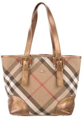 Burberry Shimmer Check Byron Tote