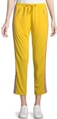 Rebecca Minkoff Jolie Side-Stripe Cropped Track Pants