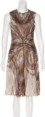 Ralph Lauren Purple Label Pleated Silk Midi Dress w/ Tags