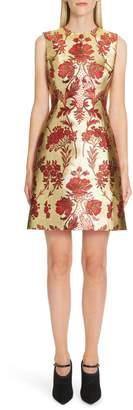 Dolce & Gabbana Metallic Jacquard A-Line Dress