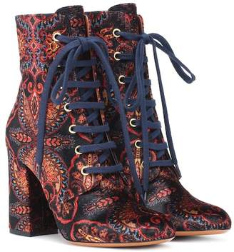 Etro Exclusive to Mytheresa – Paisley velvet ankle boots
