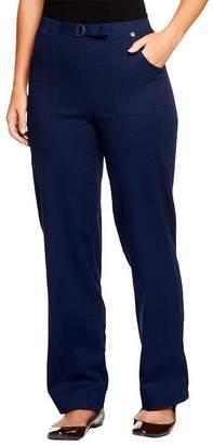 "Denim & Co. How Timeless"" Petite Stretch Denim Pull-On Jeans"