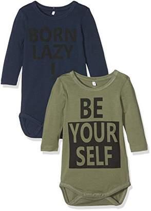 Name It Baby Boys' Nbmdarne 2p Ls Body Box Shaping Bodysuit