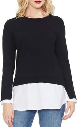 Vince Camuto Layered Crewneck Sweater