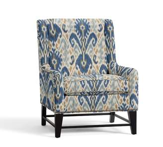 Pottery Barn Berkeley Upholstered Armchair - Print and Pattern