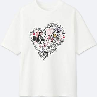 Uniqlo Women's Minnie Mouse Best Friends Forever Short-sleeve Graphic T-Shirt