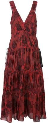 Proenza Schouler pleated neck empire dress