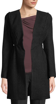 Leon Max Fit-and-Flare Corded Coat