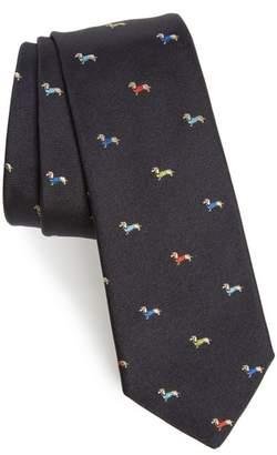 Paul Smith Dog Print Silk Tie