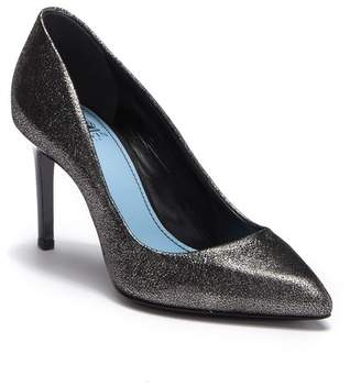 Lanvin Metallic Pointed Toe Pump