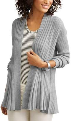Willow & Wind Women's Ribbed Swing Cardigan