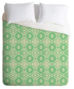 Deny Designs Holli Zollinger Anthology Of Pattern Seville Marble Green King Duvet Set Bedding
