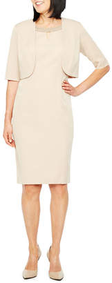 MAYA BROOKE Maya Brooke Elbow Sleeve Jacket Dress