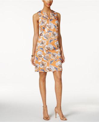 Nine West Split-Neck Floral Dress $79 thestylecure.com