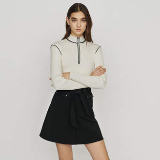Maje Skirt with tie belt