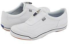Keds Hampton Sport Zipper (White Leather) - Footwear