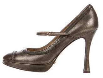 Dolce & Gabbana Leather Mary Jane Pumps