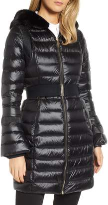 Ted Baker Faux Fur Trim Down Jacket