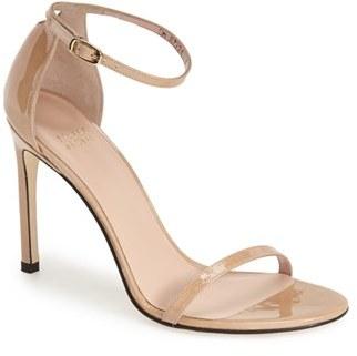 Women's Stuart Weitzman Nudistsong Ankle Strap Sandal $398 thestylecure.com