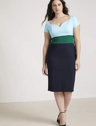 Jason Wu/ELOQUII Short Sleeve Sweetheart Neckline Sheath Dress