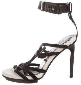 Jason Wu Embossed Leather Caged Sandals