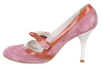 Chanel Suede Mary Jane Pumps
