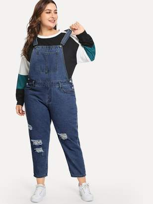 5a2eba25011f Plus Size Denim Overalls - ShopStyle