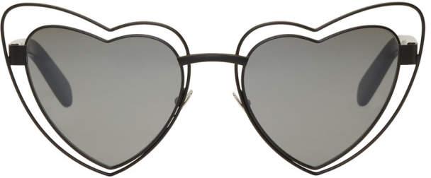 Saint Laurent Black SL 197 Lou Lou Cut-Out Sunglasses