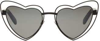 Saint Laurent Black SL 197 Lou Lou Cut-Out Sunglasses