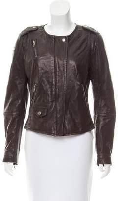 Muu Baa Muubaa Long Sleeve Leather Jacket