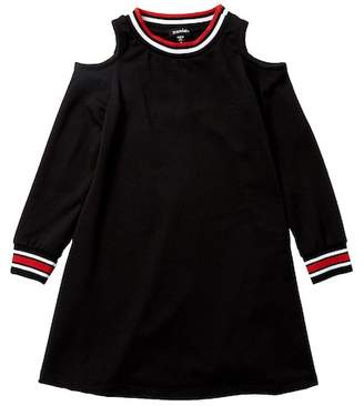 Zunie Long Sleeve Solid Baby French Terry Dress (Big Girls)