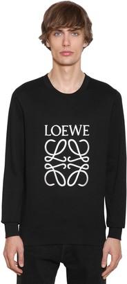 Loewe EMBROIDERED ANAGRAM COTTON SWEATSHIRT