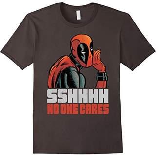 Marvel Deadpool SSHHHH No One Cares Whisper Graphic T-Shirt