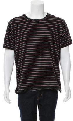 Saint Laurent Striped Short Sleeve T-Shirt