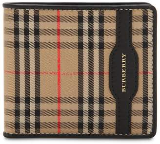 Burberry Checked Cotton & Leather Wallet