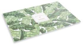 Twos Company Two's Company Palm Party Palm Leaf Pattern Paper Placemat Book