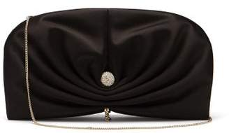 Jimmy Choo Vivien Satin Clutch - Womens - Black