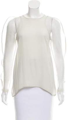 Ohne Titel Semi-Sheer Long Sleeve Top