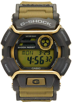 G-Shock G SHOCK Mens Tan and Gray LED Strap Watch GD400-9