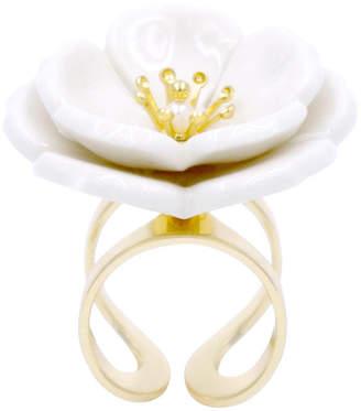Poporcelain Porcelain Plum Blossom Statement Ring