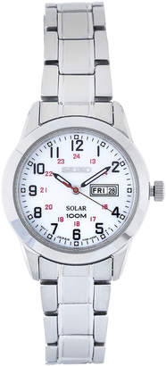 Seiko SUT167 Silver-Tone & White Watch