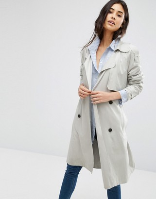 Mango Double Breasted Belted Trench Coat $83 thestylecure.com