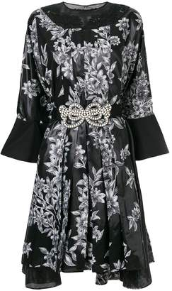 Fendi floral print belted dress