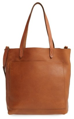 Madewell Medium Leather Transport Tote - Brown $158 thestylecure.com