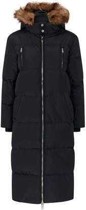 Claudie Pierlot Faux Fur Trim Hooded Puffer Jacket