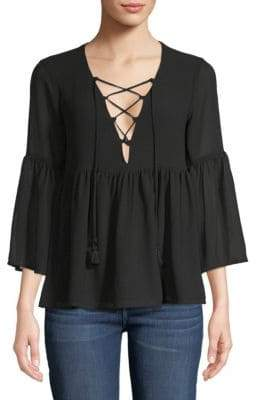 Show Me Your Mumu Rosalita Lace-Up Top