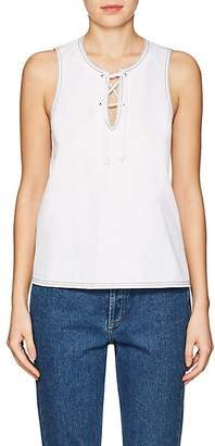 Lisa Perry Women's Cotton Piqué Lace-Up Swing Top