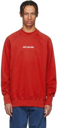 Leon Aime Dore Red Logo Sweatshirt