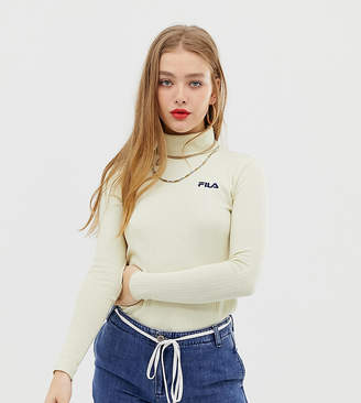 Fila high neck top with small chest logo