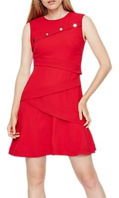 Damsel in a Dress Kalyn Button Detail Dress, Red